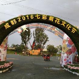 五色草造型拱门